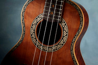 tenor uke with new Purflex® purfling and rosette